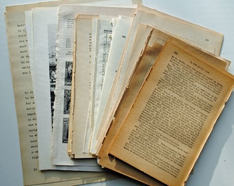 Mixed Bag of Old Book Pages, 100 pack,  ephemera