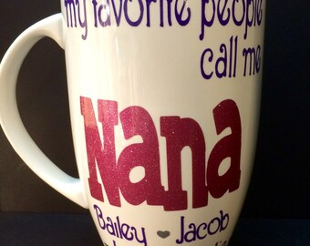 Coffee Mug for Grandma/Mee Maw/Nana Gift for Mother's Day Personalized