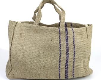 Hessian Burlap Jute Bag (BHB813-12), Bag was featured in Martha Stewart, Hot item! Rustic, primitive, rustic, urban looking bag