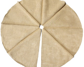"Burlap/Jute Tree skirts w/ finished edges 46-48"" round(TS48-xx) 4 Colors gives a primitive, urban, country look. Great for Christmas trees."