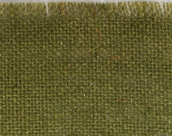 "Olive Glitter Burlap Table Placemats 14"" x 18"" Pack of 6, Great for the Holidays, fringed edges, we have in variety of colors (BFG-P09)"