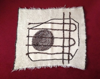 Hand woven and felted tapestry, Crop Circles Tapestry