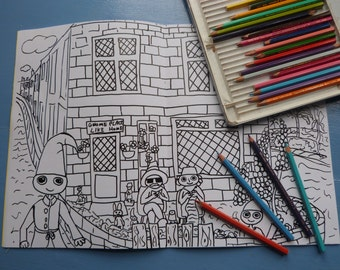 Hastings Colouring in Book. Featuring the Dweeblings