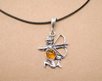 Pendant in sterling silver zodiac sign