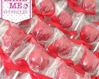 Sprinkled Red Cakepops (minimum order of 6)