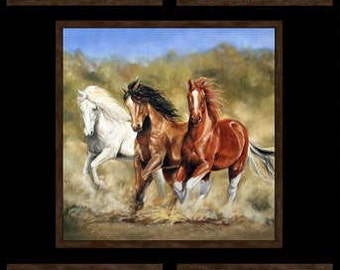 "Happy Trails cotton panel -- approximately 23"" x 44"""