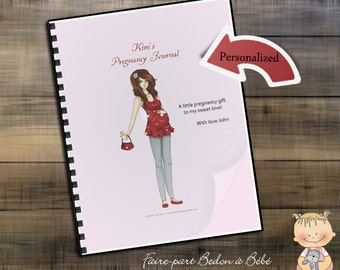 Pregnancy Journal Lady in Red