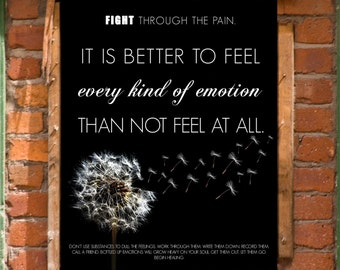 Keep Fighting Inspirational Wall Art Print Printable Decor INSTANT DOWNLOAD