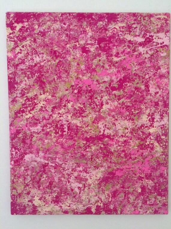 Abstrait peinture art mur moderne Extra grand mur art mur rose art ...