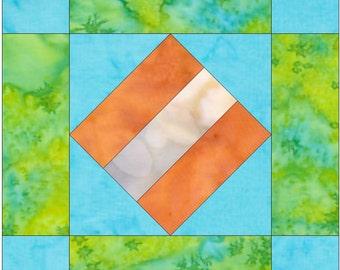 Album 2 Block Paper Piece Foundation Quilting Block Pattern