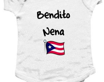 Bendito Nene/ Bendito Nena -Baby One-Piece Body Suit -Personalized Gifts-Custom Prints