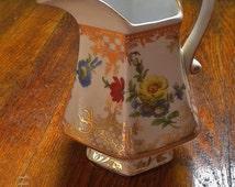 Vintage Royal Danube Floral Pitcher Vase Shabby Chic Victorian Petite
