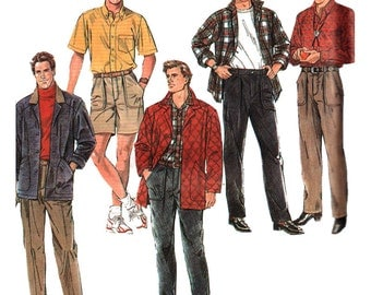 Simplicity Sewing Pattern 9931 Men's Pants or Shorts, Shirt and unlined Jacket Size:  RR  42-48  Uncut