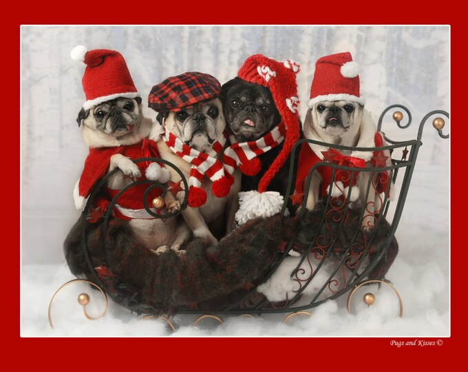 100 HOLIDAY Cards  by Pugs and Kisses