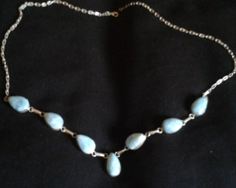 Genuine Larimar (from Dominican Republic) Sterling Silver necklace!