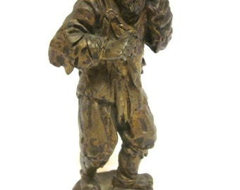 Vintage Bronze Figure With Signature