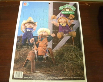 Vintage Cabbage Patch Kids tray puzzle, Milton Bradley, 1980s