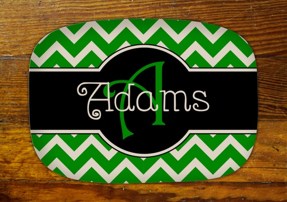 Personalized Serving Platter-Chevron