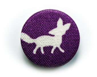 PIN back button or magnet Fox