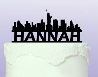 Personalised New York Cityscape Cake Topper