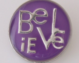 KB5068  Purple Enamel Believe Charm