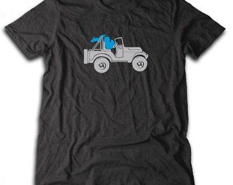 Michigan Jeep Road Trip T-Shirt