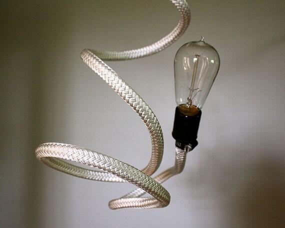Bare Bulb Bendable Pendant Ceiling Light White By Mysecretlite