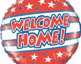 Welcome Home Balloon, Military Welcome Balloon, Back from Trip Welcome Balloon, Welcome Back Balloon