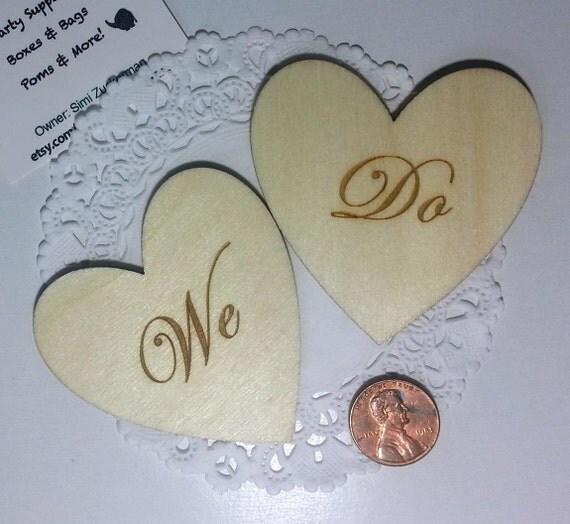 Clearance 24 Wedding Wooden Hearts We DoWedding TagsWish Tree