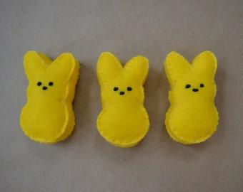 Felt Food Easter Yellow Bunny Peeps