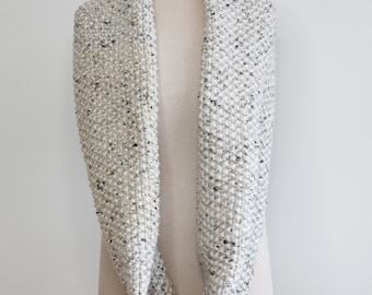 Chunky and cozy infinity scarf