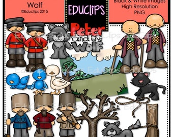 Peter And The Wolf Clip Art Bundle