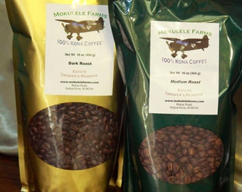 100% Kona Coffee, Direct from the Farmer, 1# Bag
