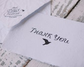 Letterpress Thank You Card; Handmade Paper; Stationery; Greeting Card; Pack of Two