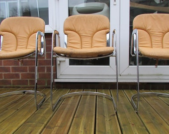 A set of four rare chairs by Cidue vintage Italian Rizzo