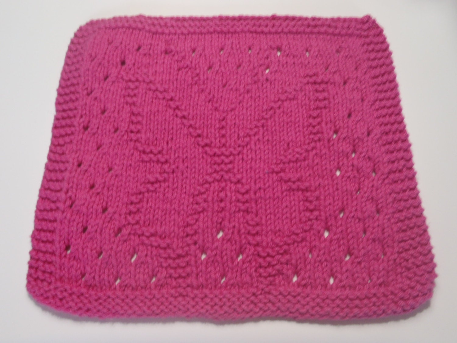 Butterfly Dishcloth Knit Cotton Dishcloth Pink Butterfly