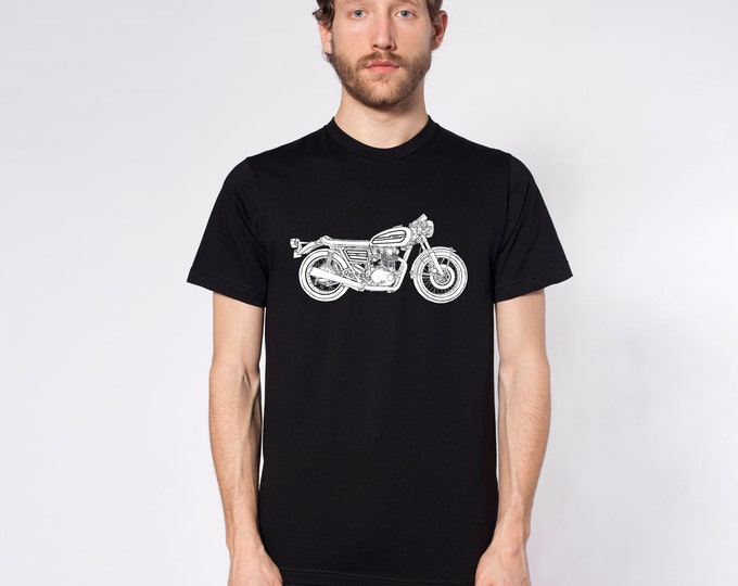 KillerBeeMoto: Limited Release Japanese Cafe Racer Side View Short & Long Sleeve Motorcycle Shirt