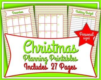 Christmas Planning Printables- Filofax Personal Size 3.75x6.75 inches