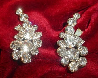 Dazzling Vintage Rhinestone Earrings