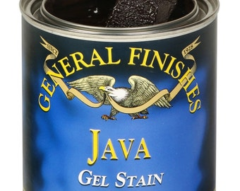 General Finishes Gel Stain- Pint Quart or Gallon- Furniture Oil Topcoat- Java Walnut Black and more!