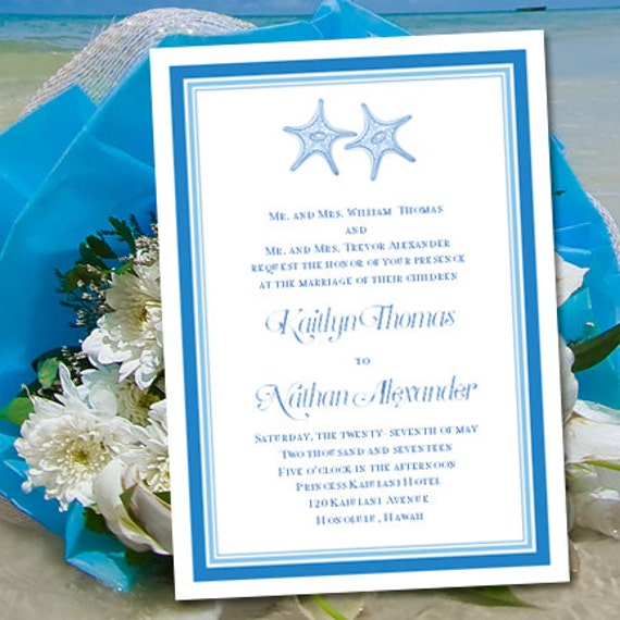 Etsy Beach Wedding Invitations: Beach Theme Wedding Invitations Turquoise And By