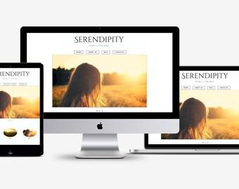 Premade Wordpress theme, white blog design, minimal wordpress template, photography