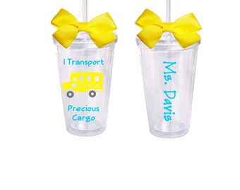 Bus Driver, Personalized Acrylic Tumbler