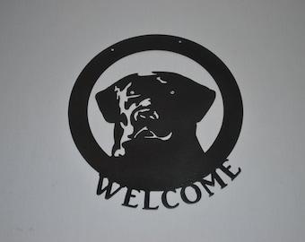 Small Labrador Welcome Sign