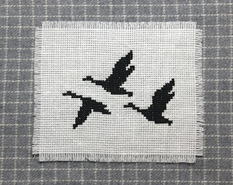 Flying geese cross stitch pattern