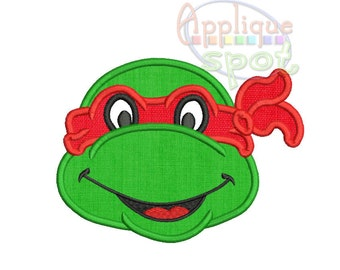 Ninja Turtle Birthday Baby Boy <4 sizes included 1.5x2, 4x4, 5x7, 6x10> Applique Design Embroidery Machine -Instant Download File