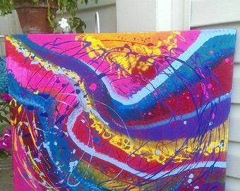 Taken Away- Large Original Abstract Painting