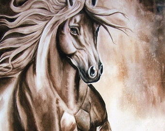 Horse Watercolor Painting Original Giclee Print from my original watercolor painting by Diana Turner