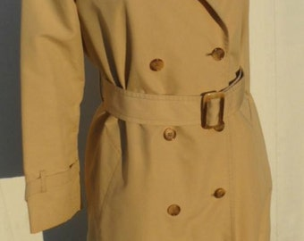 London Fog Belted Trench Coat 1980's
