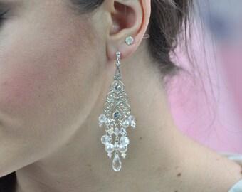 Dangling earrings married, jewel wedding